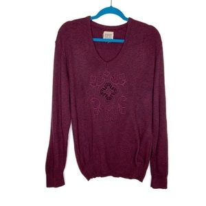 Furst Of A Kind Maroon Marled Pullover Sweater